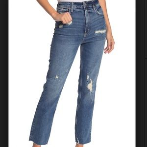 New! Free People High Waisted Slim Straight Jeans